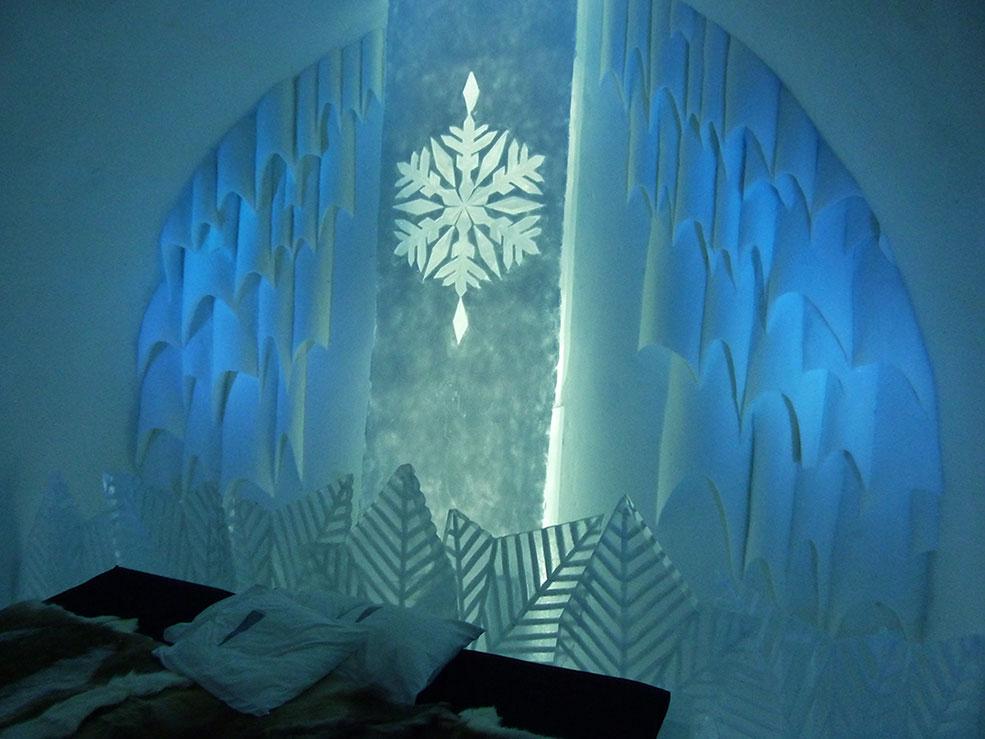 Schneeflocken-Suite im Eishotel