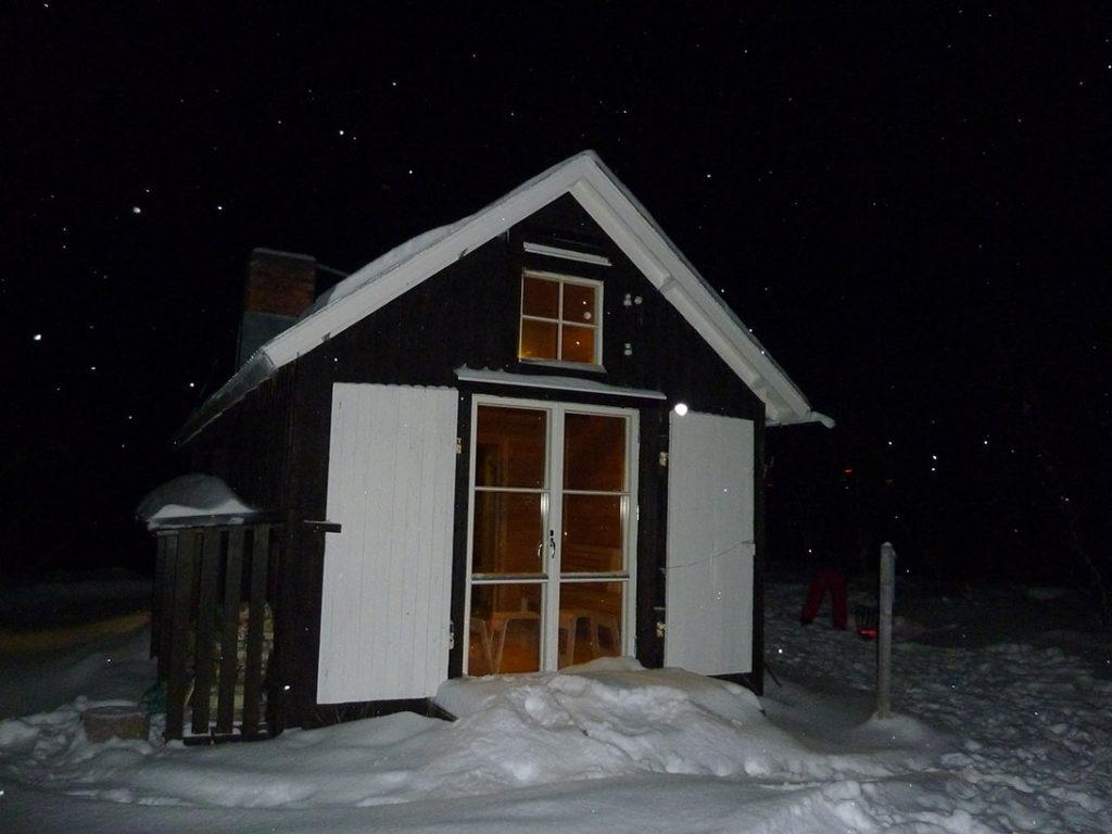 unsere Sauna am Torneträsk