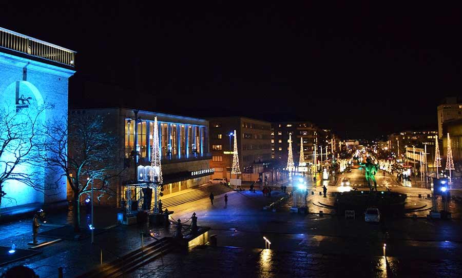 Advent in Göteborg: Blick auf die Straße der Lichter