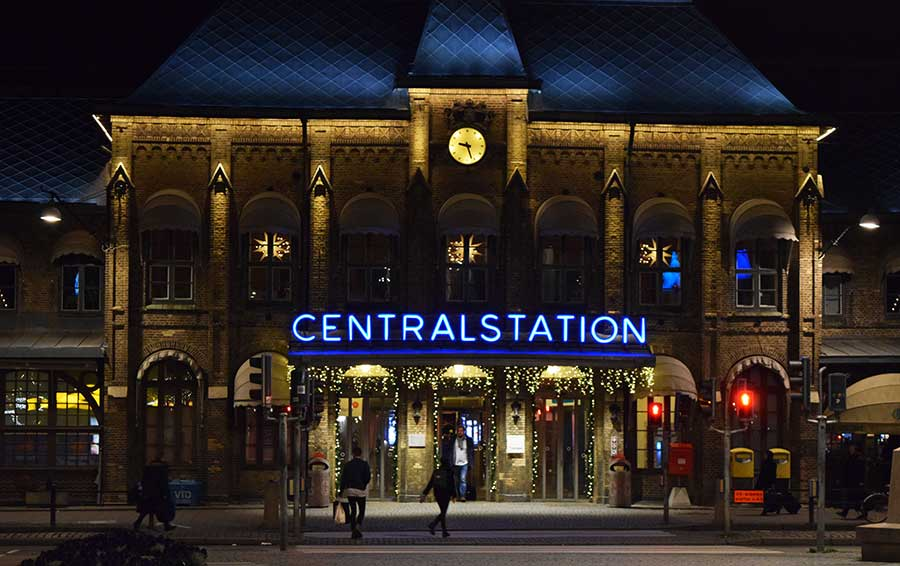Advent in Göteborg: Bahnhofsgebäude